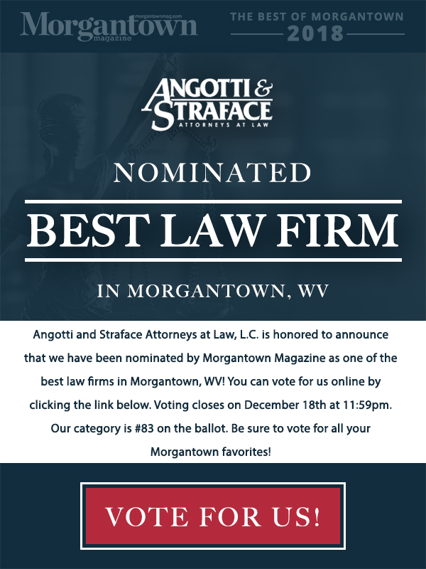 Angotti & Straface Nominated Best Law Firm in Morgantown, WV